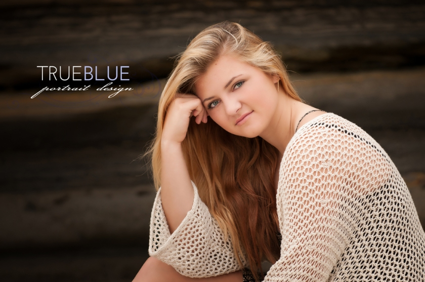 High school senior portraits by TRUE BLUE Portrait Design