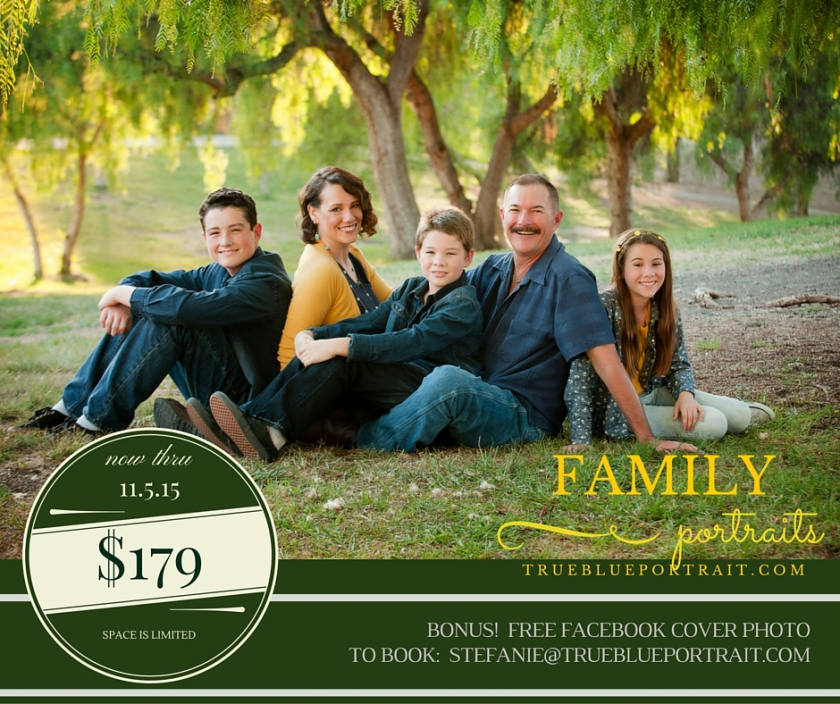 family Portraits in time for the holidays