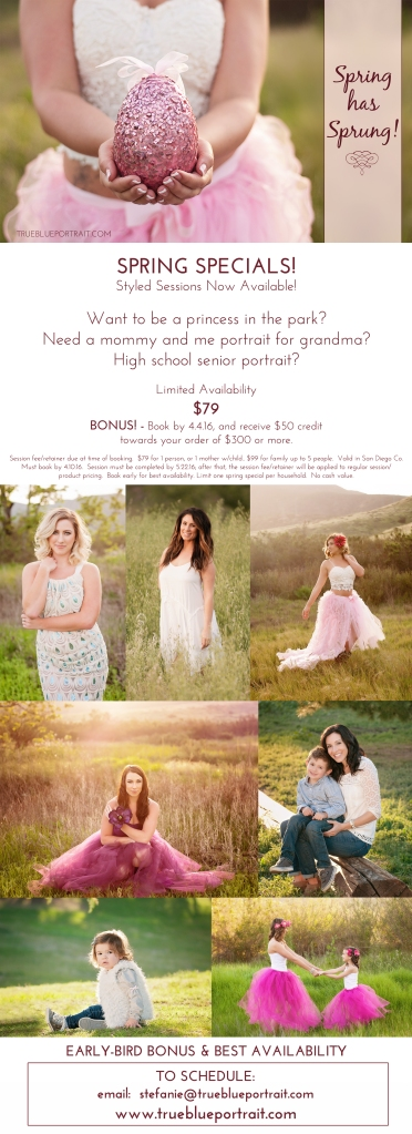 spring photography specials san diego