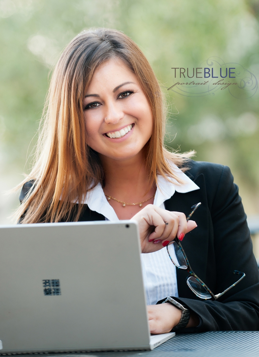 young professional woman with computer