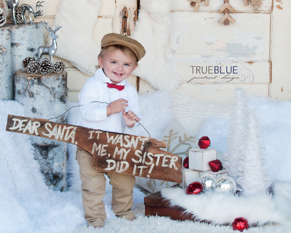 styled christmas photoshoot for toddlers